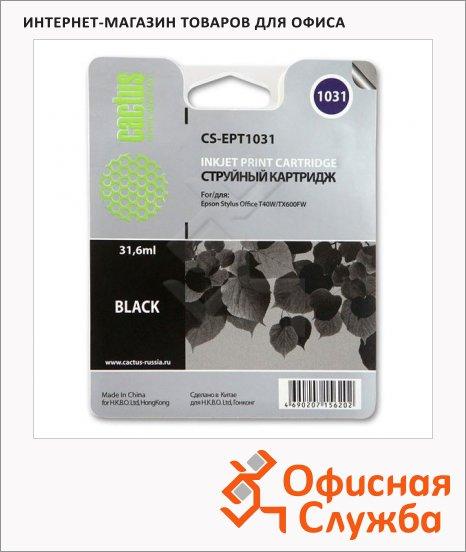 Картридж струйный Cactus CS-EPT1031, черный, 31.6мл