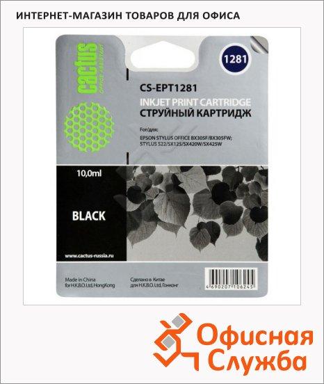 фото: Картридж струйный Cactus CS-EPT1281 черный, 10мл