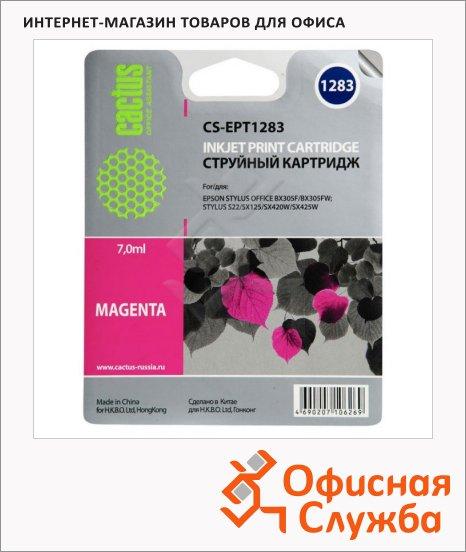Картридж струйный Cactus CS-EPT1283, пурпурный, 7мл