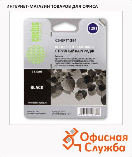 Картридж струйный Cactus CS-EPT1291, черный, 15мл