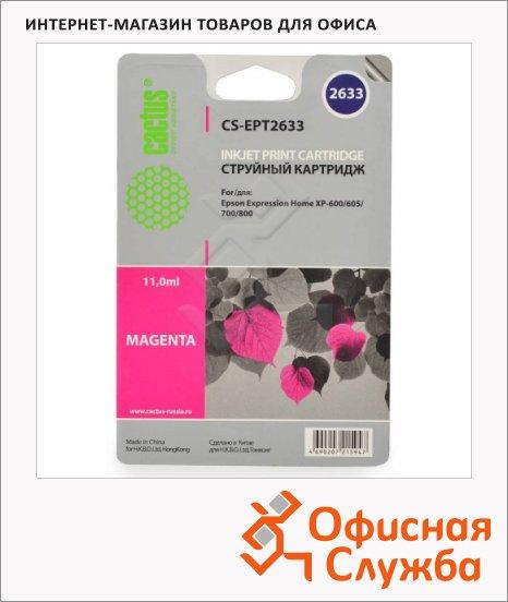 Картридж струйный Cactus CS-EPT2633, пурпурный, 11мл