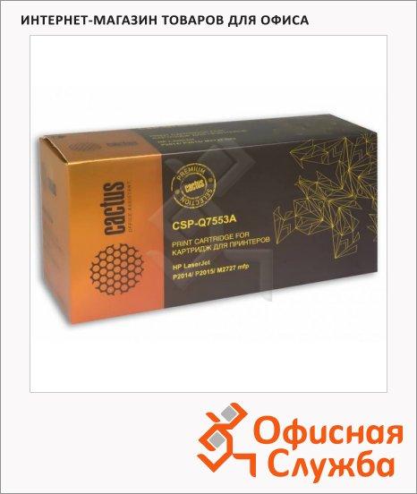 Тонер-картридж Cactus CSP-Q7553A, черный, 4000 стр