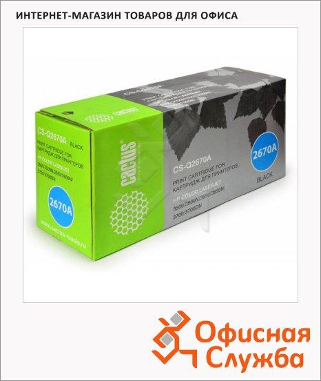 Тонер-картридж Cactus CS-Q2670A, черный, 6000 стр