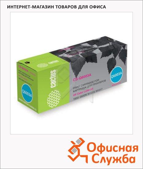 Тонер-картридж Cactus CS-Q6003A, пурпурный, 2000 стр