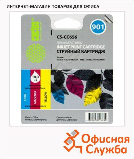 фото: Картридж струйный Cactus CS-CC656 №901 18 мл, 3 цвета