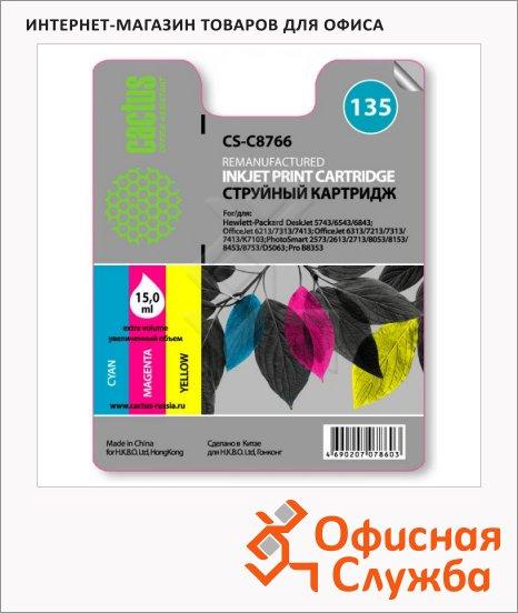 фото: Картридж струйный Cactus CS-C8766 №135 3 цвета, 15 мл