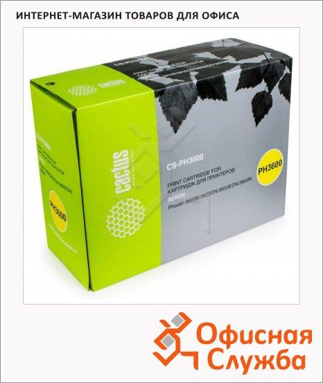 Тонер-картридж Cactus CS-PH3600, черный, 14000 стр