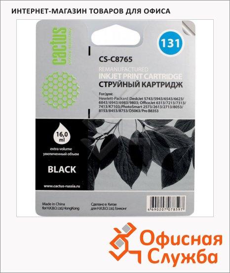 фото: Картридж струйный Cactus CS-C8765 №131 черный, 17 мл