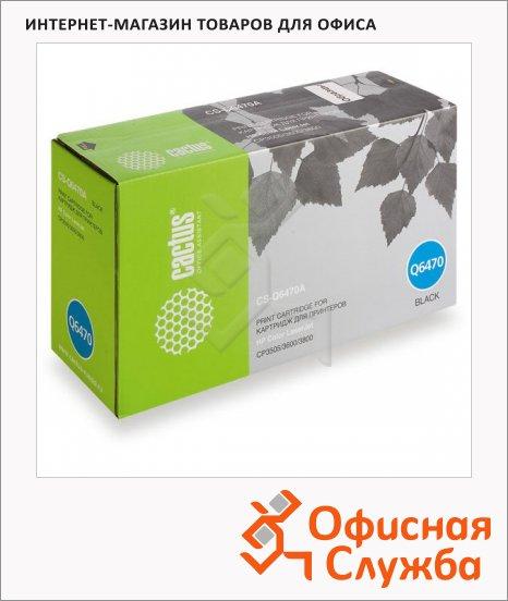фото: Тонер-картридж Cactus CS-Q6470A черный, 6000 стр