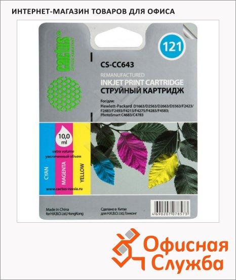 фото: Картридж струйный Cactus CS-CC643 №121 10 мл, 3 цвета