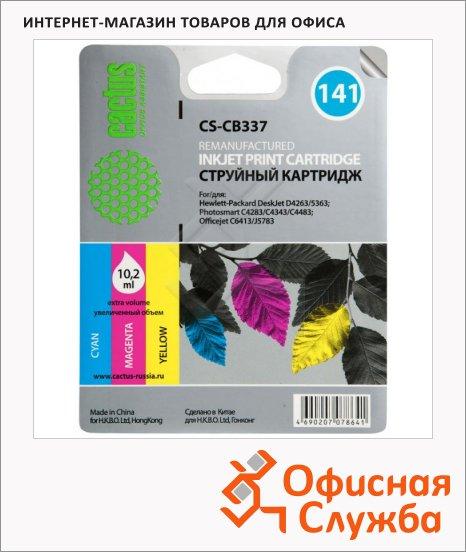 Картридж струйный Cactus CS-CB337 №141, 9 мл, 3 цвета