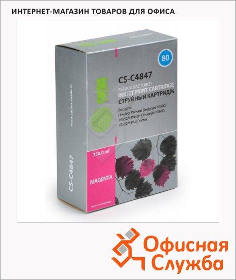 фото: Картридж струйный Cactus CS-C4847А №80 350 мл, пурпурный