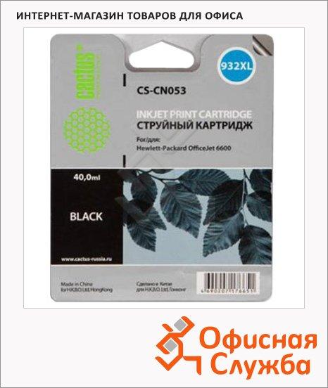 Картридж струйный Cactus CS-CN053 №932, 40 мл, черный