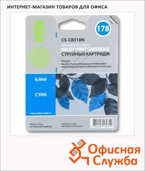 Картридж струйный Cactus CS-CB318HE №178, 6 мл, синий