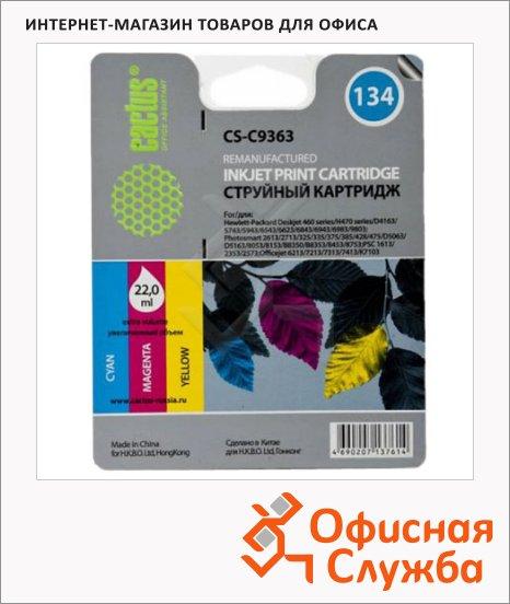 фото: Картридж струйный Cactus CS-C9363 №134 3 цвета, 22 мл