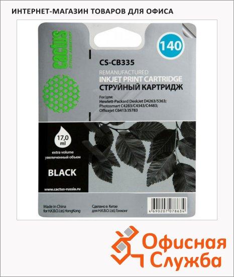 Картридж струйный Cactus CS-CB335 №140, 17 мл, черный