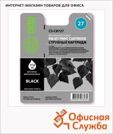 Картридж струйный Cactus CS-C8727 №27, черный, 20 мл