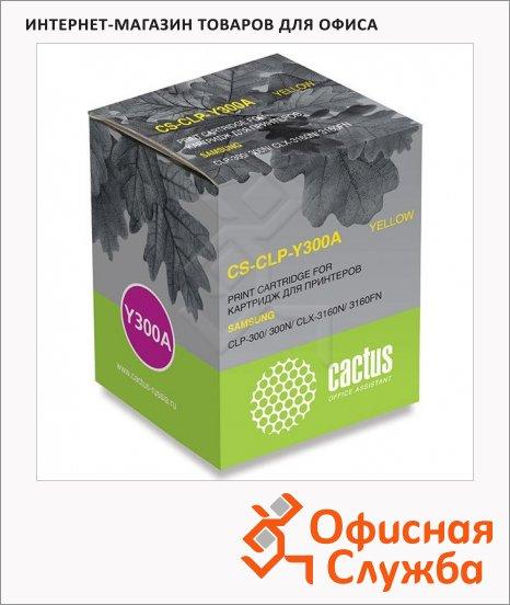 фото: Тонер-картридж Cactus CS-CLP-Y300A желтый, 1000 стр