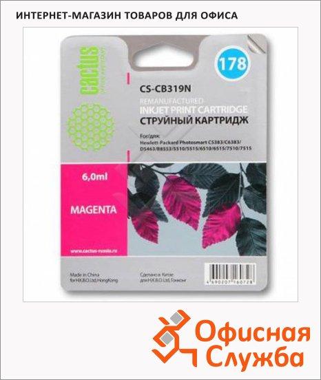 Картридж струйный Cactus CS-CB319HE №178, 6 мл, пурпурный