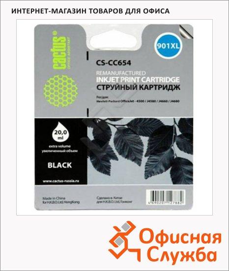 фото: Картридж струйный Cactus CS-CC654 №901 18 мл, черный