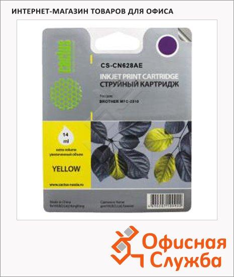 Картридж струйный Cactus CS-CN628AE, 113 мл, желтый