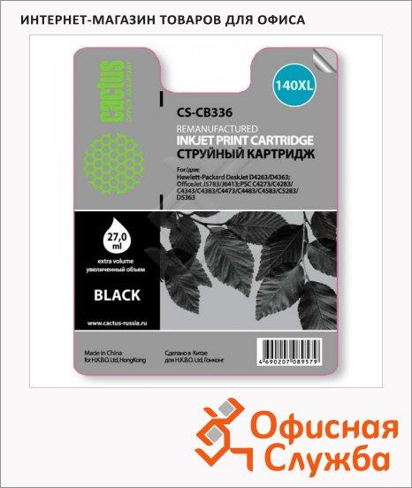 фото: Картридж струйный Cactus CS-CB336 №140XL 29 мл, черный