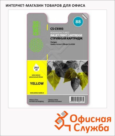 фото: Картридж струйный Cactus CS-C9393 №88 29 мл, желтый