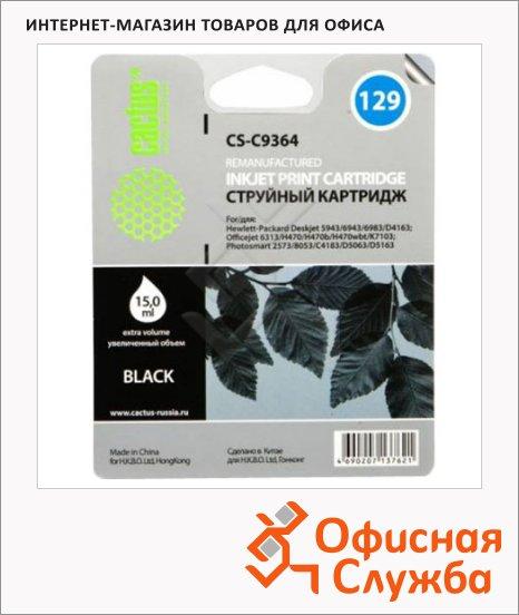 фото: Картридж струйный Cactus CS-C9364 №129 черный, 18 мл