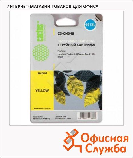 Картридж струйный Cactus CS-CN048, 26 мл, желтый