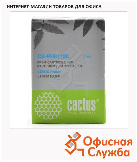 Тонер-картридж Cactus CS-PH6110C, голубой, 1000 стр