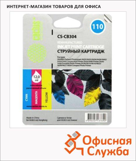 Картридж струйный Cactus CS- CB304 №110, 3 цвета, 9 мл