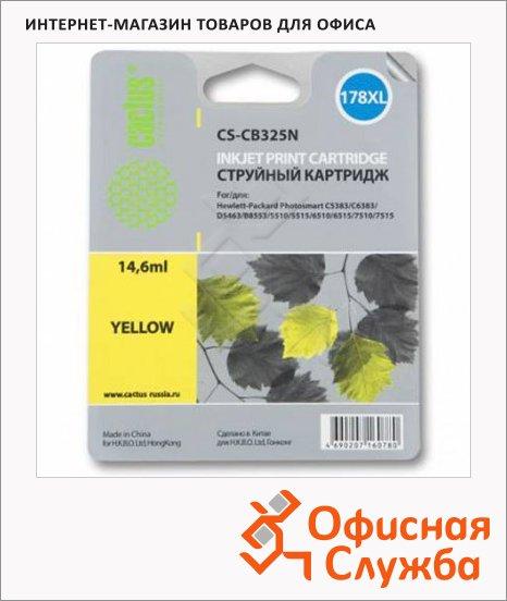 Картридж струйный Cactus CS-CB325N №178XL, 14.6 мл, желтый