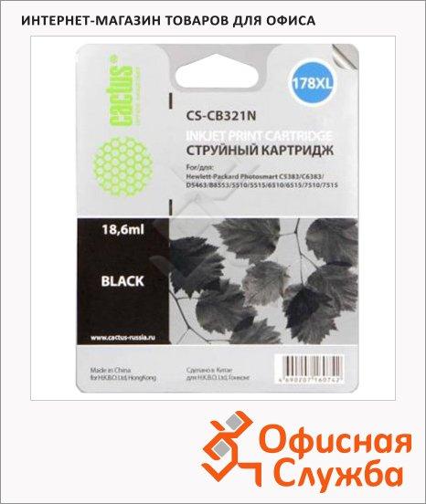 Картридж струйный Cactus CS-CB321HE №178XL, 30 мл, черный