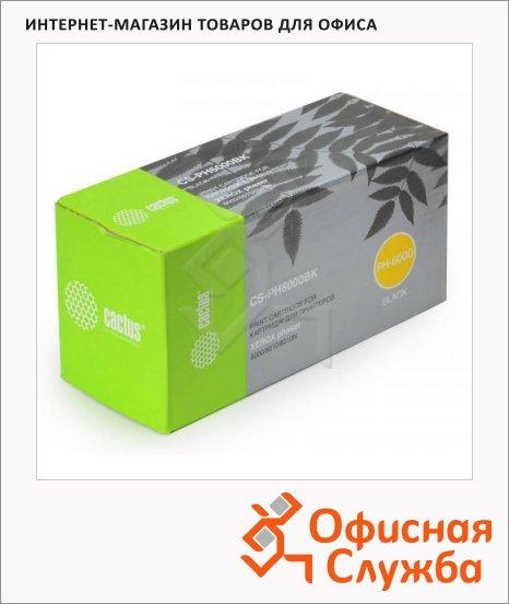 Тонер-картридж Cactus CS-PH6000BK, черный, 2000 стр