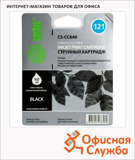 Картридж струйный Cactus CS-CC640 №121, 6 мл, черный