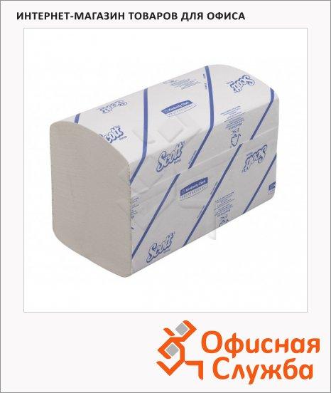 Бумажные полотенца Kimberly-Clark Scott Extra 6669, листовые, 240шт, 1 слой, белые