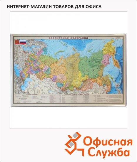 фото: Коврик настольный для письма Office Space 38x59см карта РФ