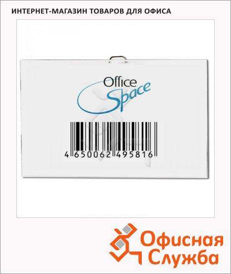 Бейдж на зажиме с булавкой Office Space 57х90мм, 100шт/уп.