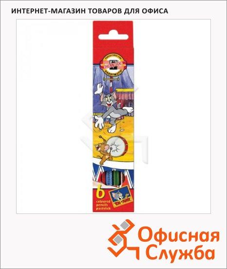 фото: Набор цветных карандашей Koh-I-Noor Том и Джерри 3651 6 цветов