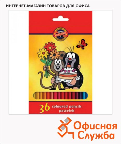 Набор цветных карандашей Koh-I-Noor Крот 36 цветов, 3655