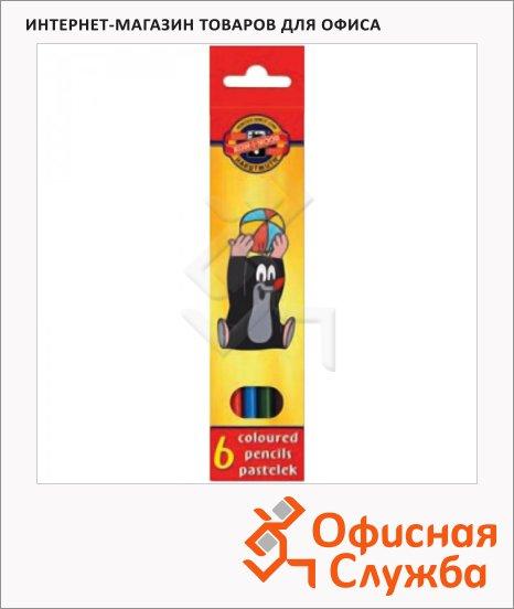 Набор цветных карандашей Koh-I-Noor Крот 6 цветов, 3651