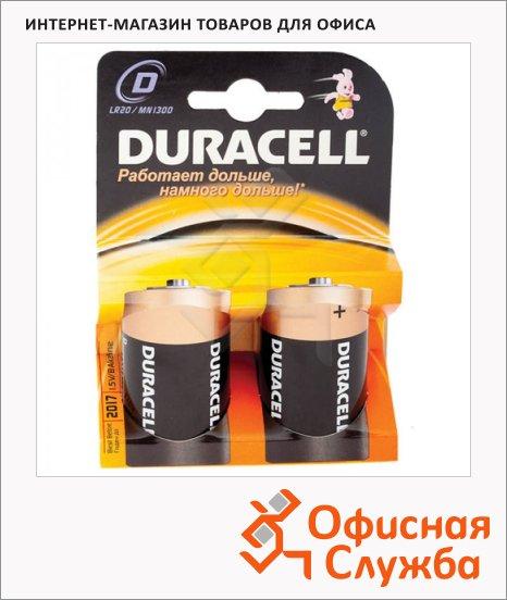 фото: Батарейка Duracell Basic D/LR20 1.5В, алкалиновые, 2шт/уп