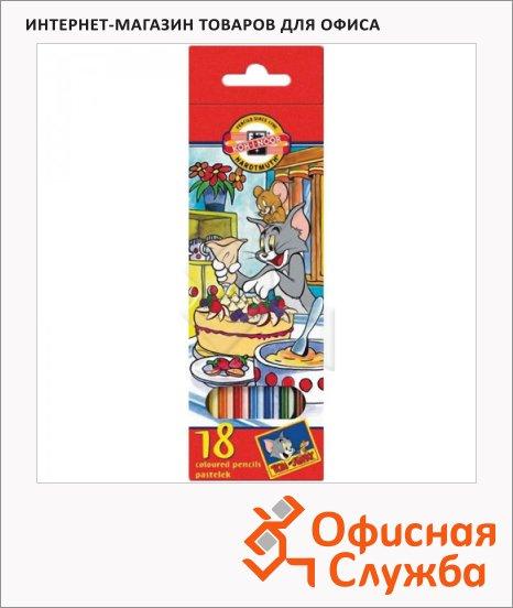 фото: Набор цветных карандашей Koh-I-Noor Том и Джерри 3651 18 цветов 3653