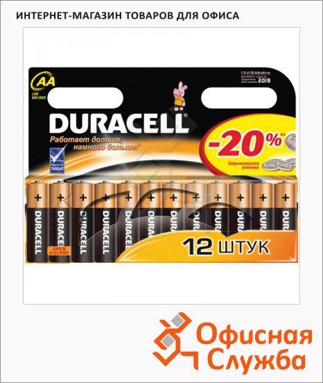 Батарейка Duracell Basic AA/LR6, 1.5В, алкалиновые, 12шт/уп