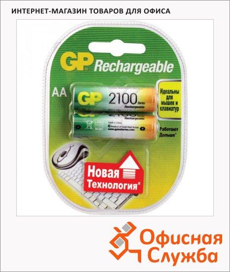 Аккумулятор Gp AA/HR6, 2шт/уп, 2100mAh