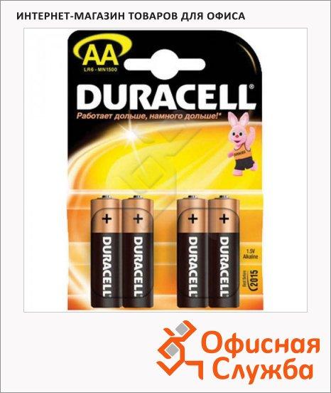 фото: Батарейка Duracell Basic AA/LR6 1.5В, алкалиновые, 4шт/уп
