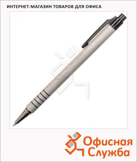 Ручка шариковая автоматическая Pilot синяя, 0.32мм, серый корпус