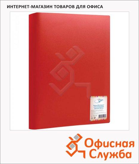Папка файловая Office Space красная, A4, на 80 файлов, F80L3_296