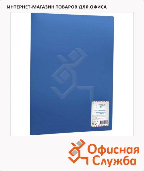 Папка файловая Office Space синяя, A4, на 30 файлов, F30L2_286