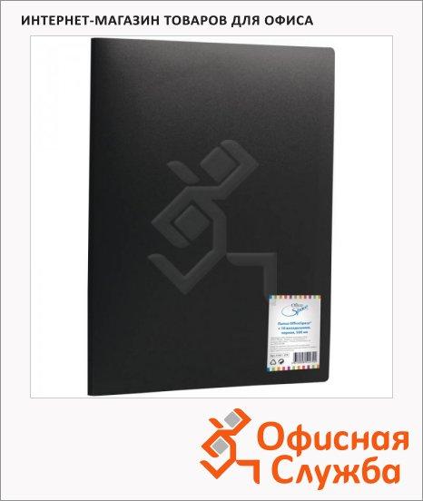Папка файловая Office Space черная, А4, на 10 файлов, F10L1_279
